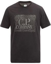 C.P. Company ロゴ コットンtシャツ - ブラック