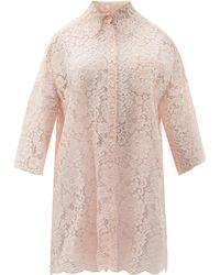 Dolce & Gabbana - ドロップショルダー コルドネットレースシャツ - Lyst