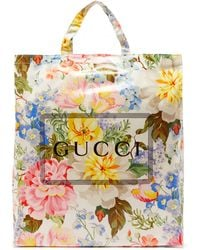 Gucci Cabas Floral-print Coated Canvas Tote Bag - Multicolour