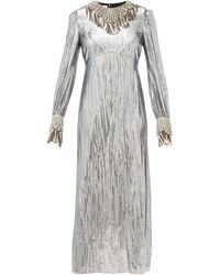 Gucci Crystal-embellished Lamé Dress - Multicolor