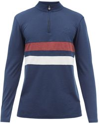 Iffley Road Sweat-shirt en piqué drirelease Worthing - Bleu