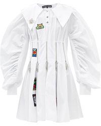 Chopova Lowena Daze Zip Bodice Cotton-poplin Mini Dress - White