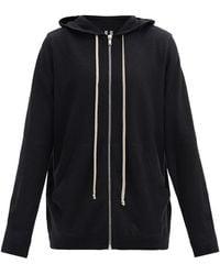 Rick Owens Zip-through Cashmere Hooded Sweater - Black