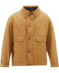 Raey Chest Pocket Cotton Blend Jacket - Multicolor