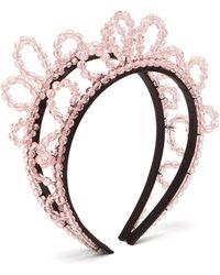 Simone Rocha Double Wiggle Crystal-embellished Headband - Pink