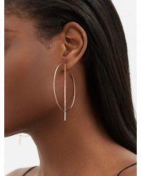 Diane Kordas Rainbow Sapphire & 18kt Rose-gold Hoop Earrings - Metallic