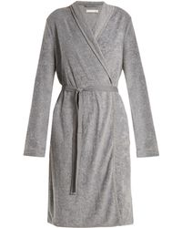 Skin - French Terry-towelling Robe - Lyst