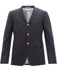 Thom Browne スーパー120s ウールツイル スーツジャケット - ブルー