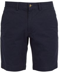 Polo Ralph Lauren - Straight Leg Cotton Blend Chino Shorts - Lyst