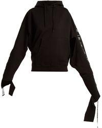 Vetements Sweat-shirt à capuche à bandes - Noir