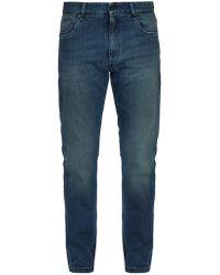 Fendi - Washed Slim Leg Jeans - Lyst