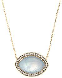 Noor Fares - Ajna Diamond & 18kt Grey Gold Necklace - Lyst