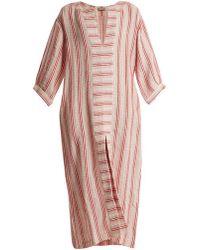 Three Graces London - Mayella Striped Linen-blend Kaftan - Lyst