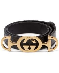 Gucci - Horsebit Buckle Quilted Leather Belt - Lyst