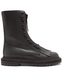 Burberry - Zip-front Grained-leather Ankle Boots - Lyst