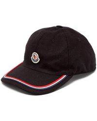 Moncler Logo Embroidered Cap - Black