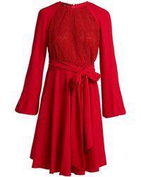 Giambattista Valli - Macramé-lace Crepe Dress - Lyst