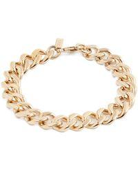 A.P.C. | Gourmette Jill Curb-chain Silver Bracelet | Lyst