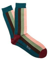 Paul Smith - Artist Stripe Cotton-blend Socks - Lyst