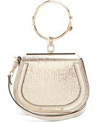 Chloé - Nile Small Metallic Leather Cross-body Bag - Lyst
