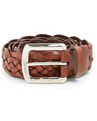 Brunello Cucinelli - Woven Leather Belt - Lyst