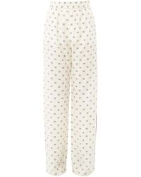 Valentino - V Logo Printed Crepe Pyjama Trousers - Lyst
