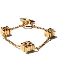 Loewe Anagram Charm Bracelet - Metallic