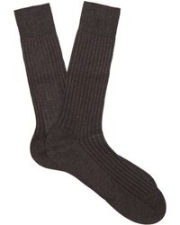 Pantherella - Danvers Ribbed Knit Socks - Lyst
