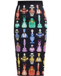 Mary Katrantzou - Opium Perfume Print Crepe Pencil Skirt - Lyst