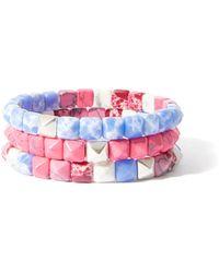 Isabel Marant Set Of Three Beaded Bracelets - Pink