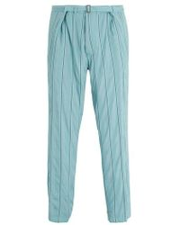 Haider Ackermann - Striped Tapered-leg Trousers - Lyst