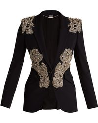 Alexander McQueen - Crystal And Beaded Blazer - Lyst