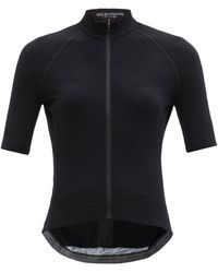 Café du Cycliste Marina Ribbed Wool-blend Cycling Jersey - Black