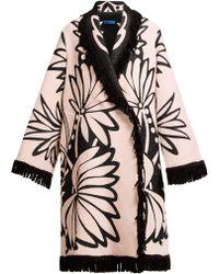 0ec0ce8175be Marit Ilison - Palm Intarsia Tasselled Cotton Coat - Lyst