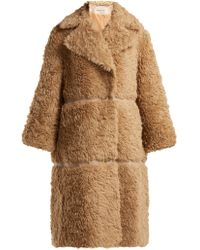 Vika Gazinskaya - Faux Fur Alpaca Blend Coat - Lyst