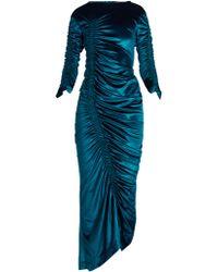 Preen By Thornton Bregazzi - Hitch Round-neck Ruched Velvet Dress - Lyst