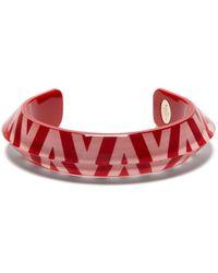 Valentino Logo-print Bracelet - Red