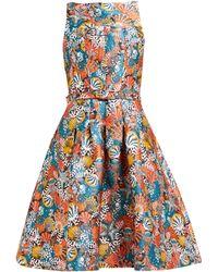 Mary Katrantzou Naramina Shell-brocade Midi Dress - Multicolour
