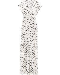 Rat & Boa Mariella Polka-dot Print Maxi Dress - White