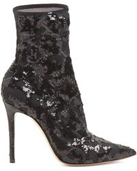 Gianvito Rossi - Sequin-embellished 105 Ankle Boots - Lyst