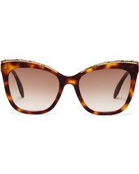 Alexander McQueen - Oversized Cat Eye Acetate Sunglasses - Lyst