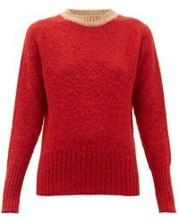 La Fetiche Viva Contrast-trim Wool Sweater - Red