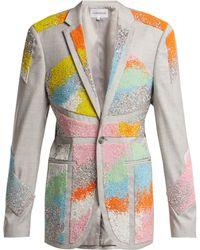 Germanier Bead Embellished Twill Blazer - Multicolour