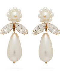 Simone Rocha Crystal And Faux Pearl Drop Earrings - Multicolour