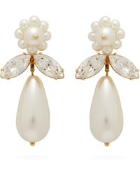 Simone Rocha Crystal And Faux-pearl Drop Earrings - Multicolor