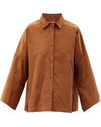 Three Graces London Sacha Cotton-corduroy Shirt - Brown