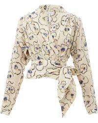 Apiece Apart - Greta Floral-printed Organic-cotton Poplin Top - Lyst