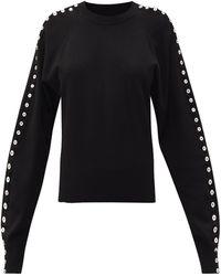 Altuzarra サロ ボタンスリーブセーター - ブラック
