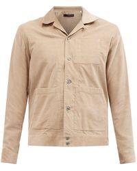 The Gigi Cotton Corduroy Overshirt - Natural