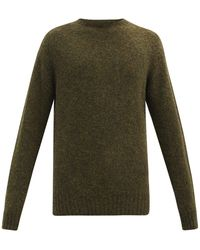 YMC ブラッシュドウール セーター - グリーン